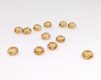6mm Swarovski Bead, Crystal Golden Shadow, Faceted Rondelle Bead, Swarovski Elements, Diy Jewelry, Loose Beads, Champagne Color Bead, RC7461