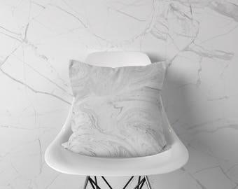 Marble Throw Pillow, White Accent Pillow, Marble Pillow Case, Marble Pillow, Marble Cushion, Marble Decor, Marble Home Decor, Minimal Pillow