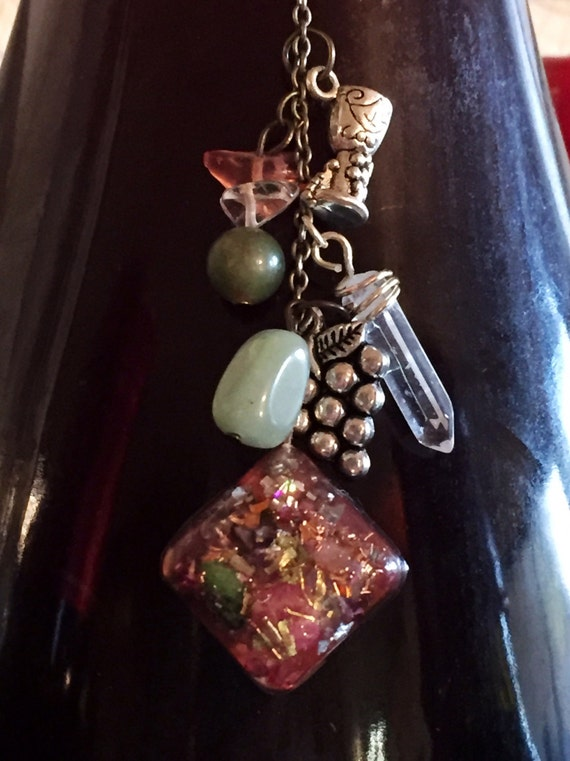 Better Wine Orgone Energy Cellar Charm- Wine Enhancing Crystal Energy Wine Charm- Orgonite® Earth Energy Merkaba Vortex Wine Charm