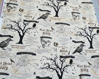 Something Wicked-Halloween Words Cotton Fabric from Wilmington Prints