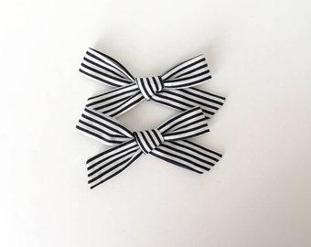 Striped Schoolgirl Bow Set or Single