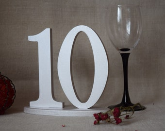 Silver Table Number for Weddings Gold Wedding Table Numbers Table Number Wedding Table Decor Wedding Reception Table 10 Table Numbers DIY