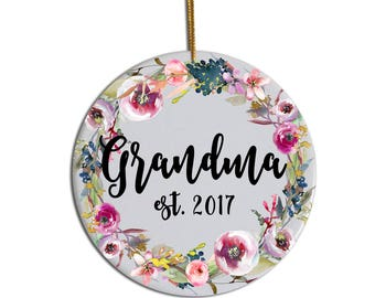 Grandma Ornament, Custom Ornament, Christmas Ornament, Gift for Grandma , Christmas Gift for Grandma , New Grandma Ornament