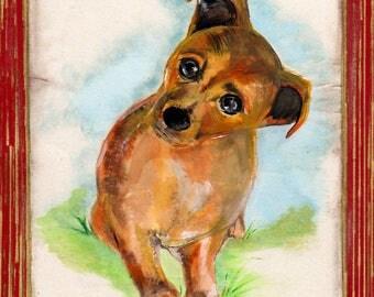 Custom animal portrait, vintage style, pet portrait, gift idea, drawing pet, custom pet portrait
