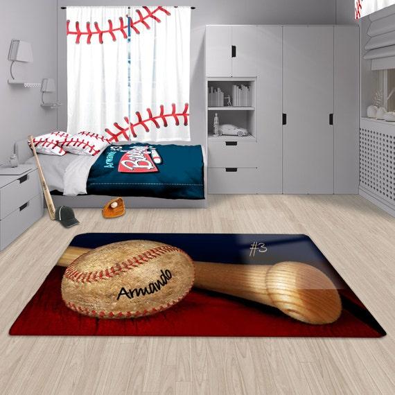 Baseball Area Rug Baseball Rug Personalized Rug Custom Rug
