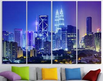 Kuala Lumpur Art Kuala Lumpur Skyline Wall Art Kuala Lumpur Print Wall Decor Malaysia Cityscape Kuala Lumpur Photo Kuala Lumpur Poster