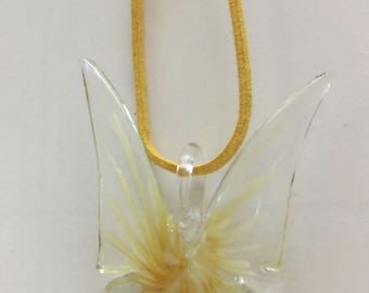 Glass Butterfly Necklace