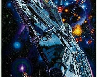 Vintage Star Wars Movie Poster A3 Print