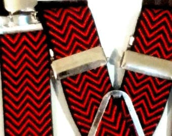 Herringbone Suspenders - 1""