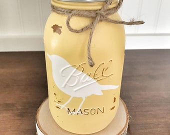 Mason Jar Piggy Bank, mason jar Coin jar, nursery decor