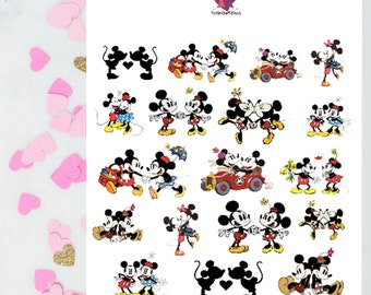 Classic Mr & Mrs Mouse Stickers / Planner Stickers / Erin Condren