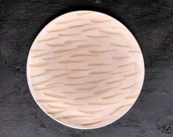 Ceramic Plate  | white sgraffito strokes |