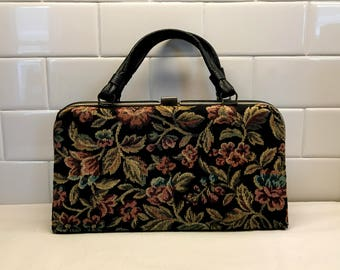 1960's Tapestry Handbag Purse