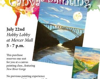 7/22/17 Canvas Painting Reservation - New River Bridge