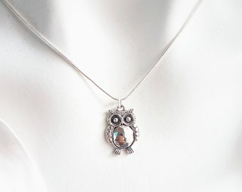 Owl Necklace, Charm Necklace, Silver necklace, Minimalist necklace, necklaces