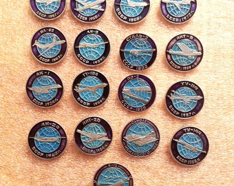 Planes aviations Vintage pins aeroplane aircraft Aeroflot USSR  aircraft soviet era aviations
