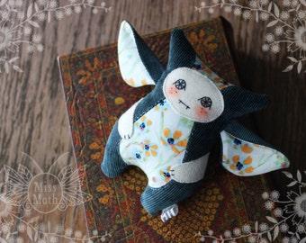 Fairy creature, elf creature, tiny monster, handmade fairy creature, by Miss Moth dolls
