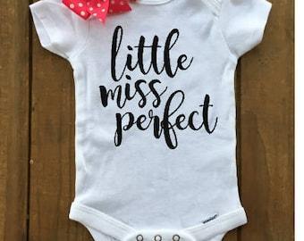 Little Miss Perfect Onesie/Baby Girl Onesie/Cute Onesie/Trendy Onesie/Baby Shower Gift/