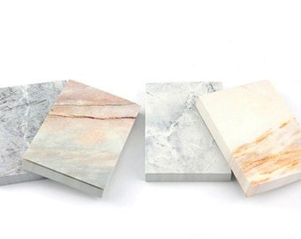Marble Tear Off Notes, Marble NotePad, Marble Memo Pad, Stone Granite Notepad, Minimalist Memo Pad, Marble Stone Notepad, Marble Note
