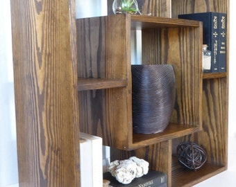 Large Geometric Stand/Box Book Shelf/ Modern Bookcase/Console Table/Modular Bookcase/Wood Furniture/Modern Nightstand/Couch & Sofa End Table