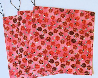 Ladybug Reusable Sandwich Wraps/Bag - 100% Cotton