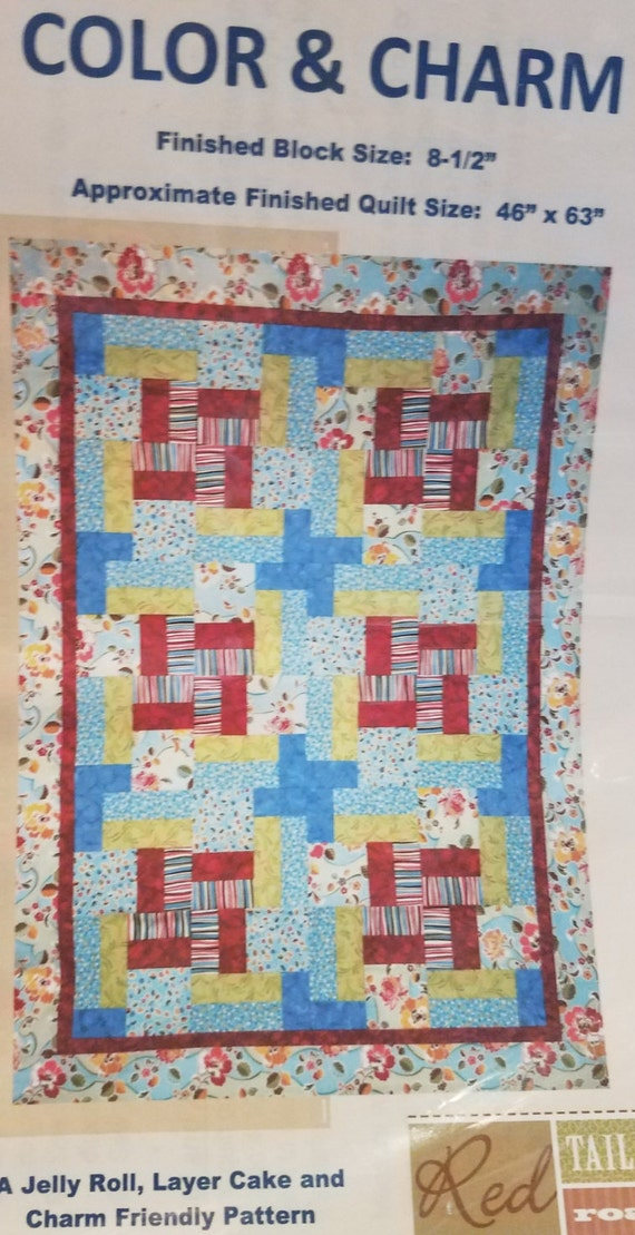 Color & Charm Quilt Pattern by Red Tail Road Quilting Company, for ... : road quilt pattern - Adamdwight.com