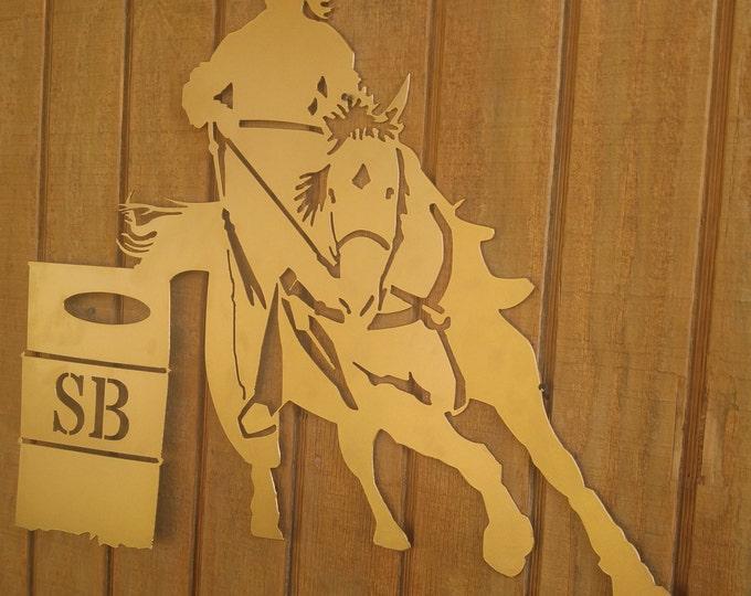 Horse Door hanger, Horse Wall decor, Barrel Racer Decor, personalized decor,  barrel racing, horse decor, horse wreath, rodeo decor, Cowgirl