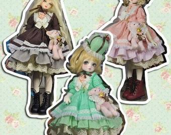 CODENOiR - Gift Set BJD clothes msd / Slimi msd / mdd / angel philia / 1/4 BJD