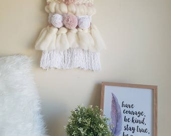 Soft Pink Weave | Wall Hanging Decor Nursery
