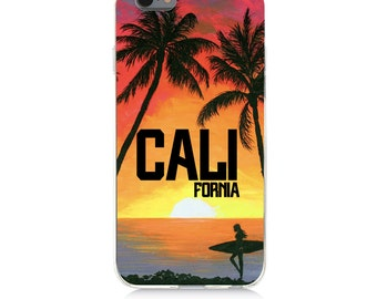 iPhone - Samsung Galaxy - TPU Soft Rubber Cell Phone Case - California - High quality Soft Silicon -Designed and Printed in USA