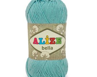 ALIZE BELLA cotton yarn crochet cotton yarn soft yarn spring yarn summer yarn color choice hand knit yarn alize cotton yarn