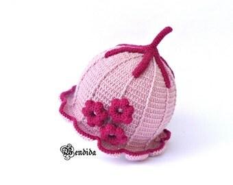 Crochet Toddler Hat, Toddler Girl Hat, Pink Toddler Hat, Crochet Toddler Beanie, Winter Girl Hat, Toddler Girl Beanie, Winter Brim Hat.