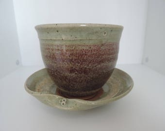 Planter - Pot-ceramic glazed - stoneware - pottery
