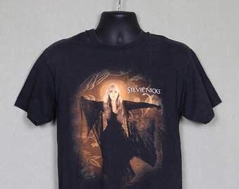 Stevie Nicks t-shirt, vintage rare tee shirt, concert tour, white, double sided, soft thin, Fleetwood Mac, tour dates