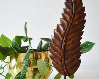 Decorative spring - wood figure - vintage