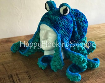 Handcrafted Crochet Octopus Hat