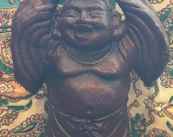 Vintage Cast Iron Buddha Statue