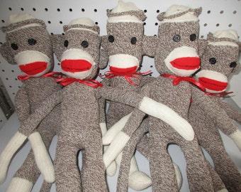 Sock monkey doll