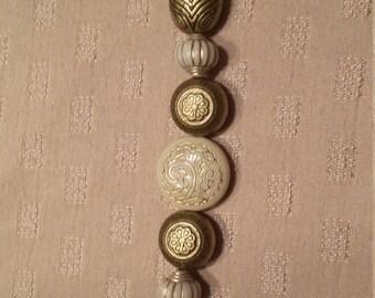 Gold Ivory Beaded Bracelet