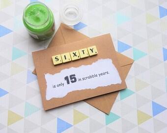 60th, 60th birthday card, 60th card, 60th ideas, Funny birthday card, Funny birthday, Funny card 60th birthday, 60 birthday card,