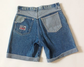 Rare! Vintage Get Used by Elie designer denim shorts