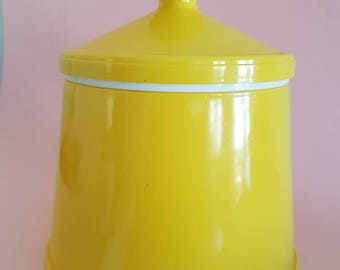 Retro Yellow Ice Bucket - Vintage Yellow Barware
