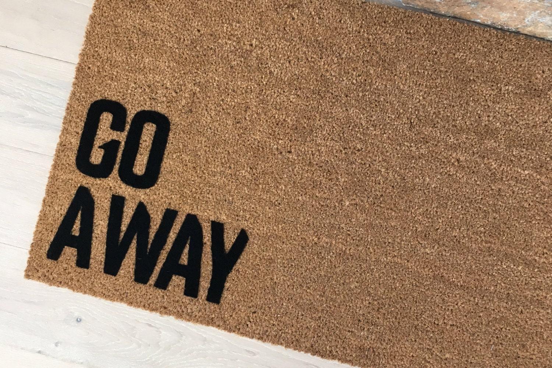 Go Away Doormat, Funny Door Mat, Creative Door Mats, Coir Doormat ...