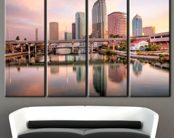 Tampa Florida, Tampain Florida, Tampa canvas, Printing on canvas, sunset over Tampa, Florida landscapes, tampa sunset picture, florida art