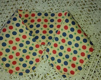 Col Claudine spotted / Polka-dot collar / french vintage domestic school / Col Claudine