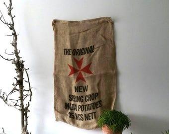 Great Old-fashioned barn burlap sack