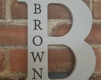 Personalized Name Letter Signs