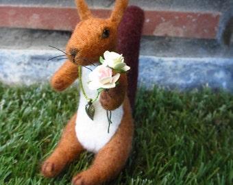 SALE 20% Romantic  squirrel- OOAK,  miniature squirrel, small squirrel , artist squirrel, tiny squirrel, art squirrel , Blythe