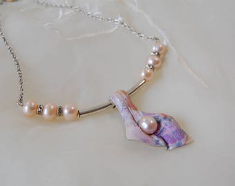 Stylish necklace Designer's necklace pearl necklace exquisite necklace wedding necklace original necklace elegant necklace jewelry