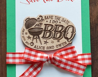 I do BBQ Save-The-Date magnet, Set 10
